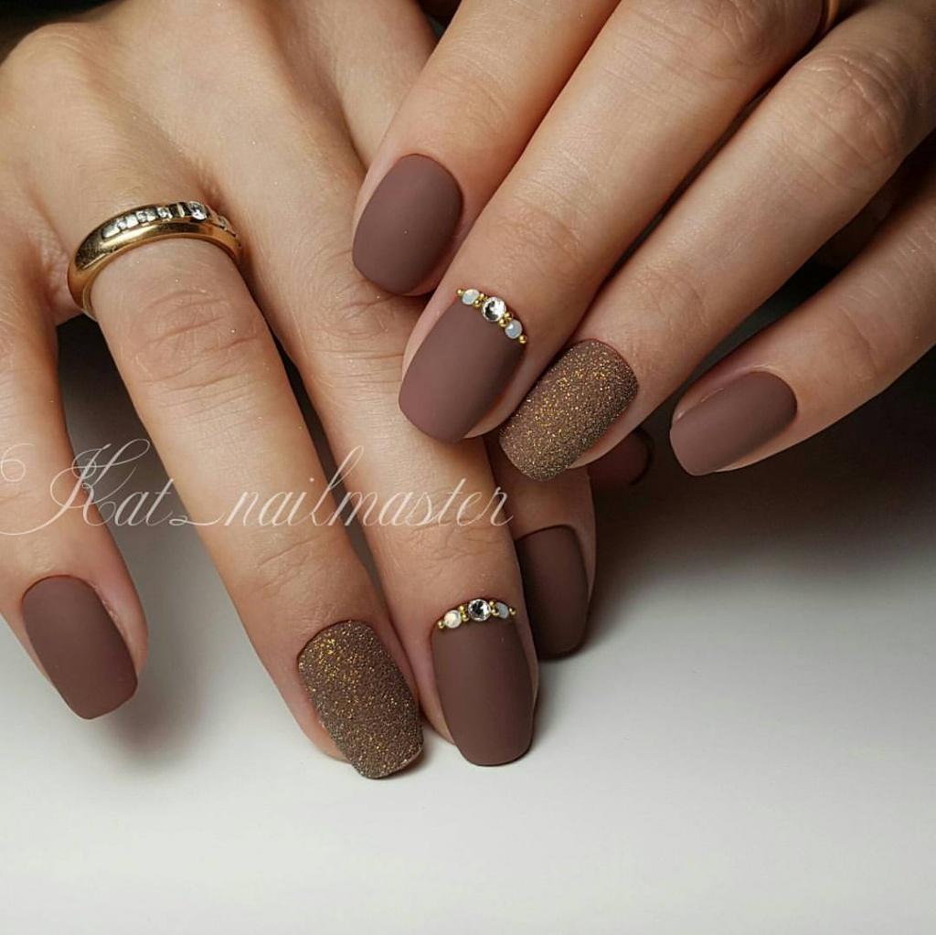 Ногти коричневые фото