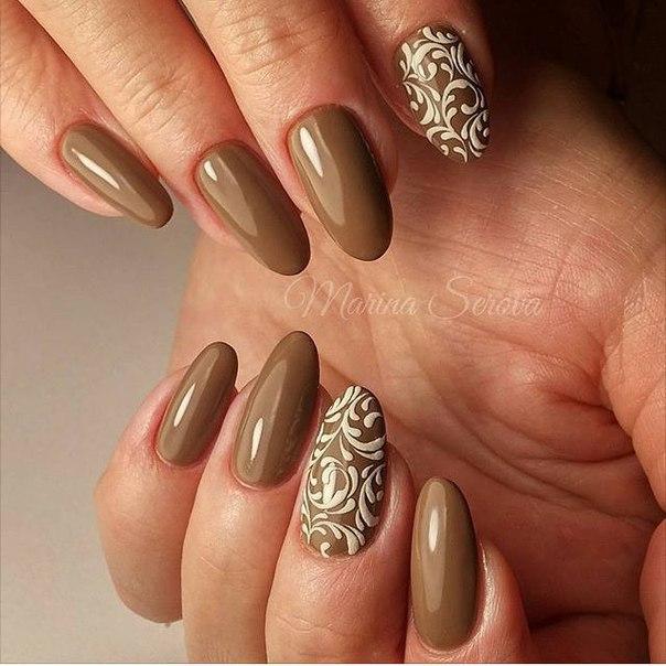 Фото наращивания ногтей черный френч