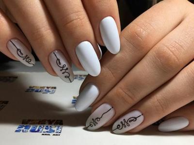 Ногти дизайн белый фото